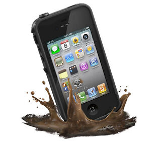 New-Waterproof-Case-Apple-iPhone-4-4S-Water-Life-Dirt-Proof-Cover-Black