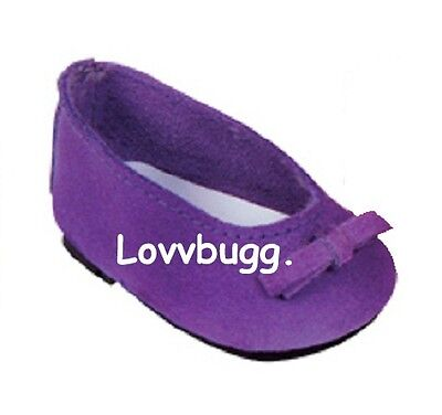 """Lovvbugg Purple Ballet Flats Doll Shoes for 18"""" American Girl Clothes"""