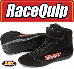 Racequip 30300110 Size 11 Mid-Top Racing Driving Shoes Black Suede SFI 3.3/5