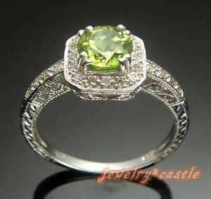 NATURAL-OLIVE-GREEN-PERIDOT-NATURAL-DIAMOND-RING-SILVER-WRAPPED-IN-14K-W-GOLD