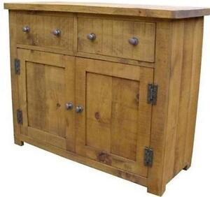 any-size-made-SOLID-WOOD-DRESSER-BASE-SIDEBOARD-CUPBOARD-RUSTIC-PLANK-PINE