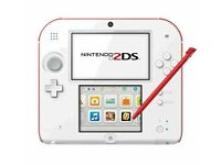 NINTENDO 2DS RED AND WHITE (MARIO BROS 2 INCLUDED)