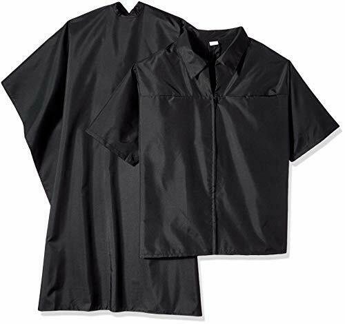 Scalpmaster Barber Jacket & Cutting Cape Set, Black