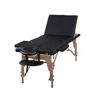 The Best Massage Table 3 Fold Black Reiki Portable Massage