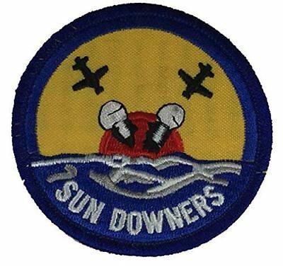 USN NAVY VF-111 SUN DOWNERS FIGHTER SQUADRON PATCH VETERAN