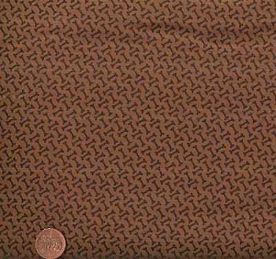 Max & Whiskers dog bones brown Moda fabric