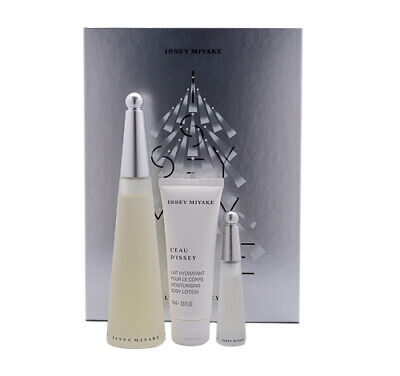 L'eau D'Issey by Issey Miyake Gift Set 3.3 oz Perfume + Body Lotion + Mini