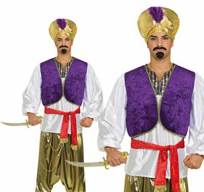 Erwachsene Aladdin Wüste Prince Hemd+Weste Verkleidung Kostüm Herren Outfit - Aladdin Kostüm Herren