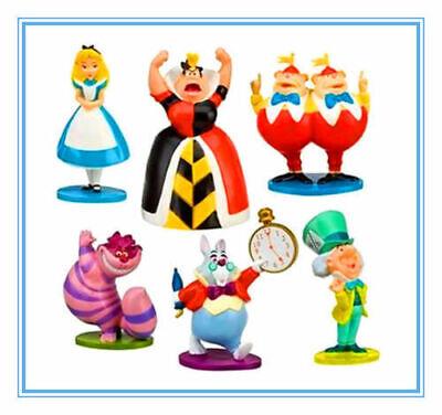 Alice In Wonderland Cake Decorations (Disney Alice In Wonderland Action Figures Figurines Kid Toy Cake Topper Decor)