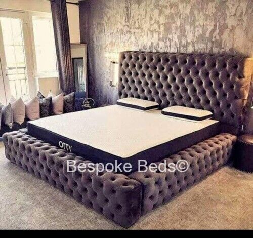 Admirable Ambassador Park Lane Bed Frame Velvet King Size Double Super King Chesterfield Design Grey Black In Hounslow London Gumtree Machost Co Dining Chair Design Ideas Machostcouk