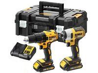 Dewalt dck2059d2t 18v drill & Impact driver charger & 2 batteries - new