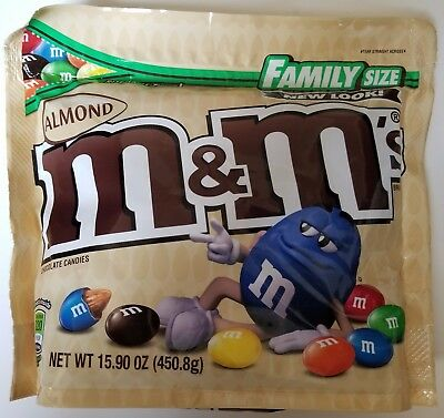 NEW Sealed Almond M&M's Family Size 15.90 oz Bag FREE WORLDWIDE SHIPPING