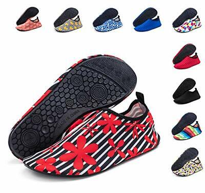 Silky Toes Womens Water Shoes Quick Dry Yoga Aerobics (39 M EU|Red Flower) Womens Red Flower