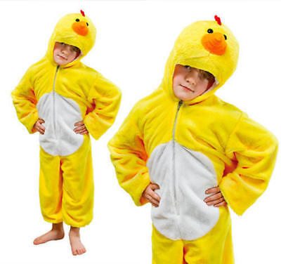 KIDS EASTER CHICKEN FARM ANIMAL FANCY DRESS COSTUME VARIOUS SIZES NURSERY CHICK