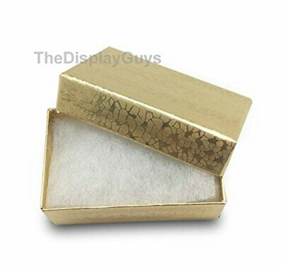 Thedisplayguys 100-pack 21 Cotton Filled Cardboard Paper Jewelry Box Gift Case