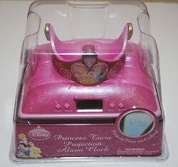 NEW Disney Princess Tiara Projection Alarm Clock