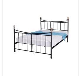Brand new single black bed frame