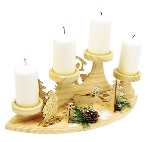 Partylite Kerzenständer Holz ~ Adventskranz Kerzenhalter jetzt online bei eBay entdecken  eBay