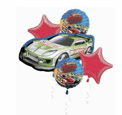 Hot Wheels Foil Balloon Bouquet Speed City Birthday Decoration Party Supplies  (City Party Supplies)