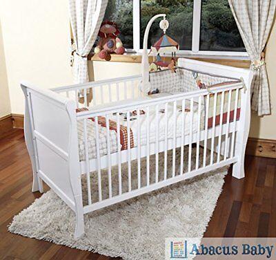 Stanley Toddler//Junior Bed Grey /& White Pocket Sprung Mattress//Quilted Topper.