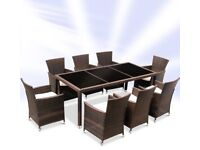 8 seater rattan dining set (new)