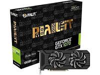 New: Palit NVIDIA GeForce GTX 1070 8GB DUAL Graphics Card - NE51070015P2-1043D