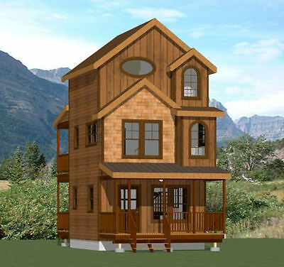 16X16 Tiny House    2 Bedroom    697 Sqft    Pdf Floor Plan    Model 20A