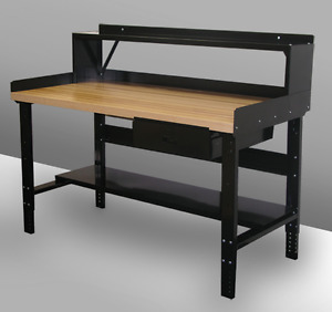 Heavy duty Hallowell Workbench @ mechanixden.com