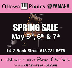 Ottawa Pianos Annual Spring Sale Begins May 7th