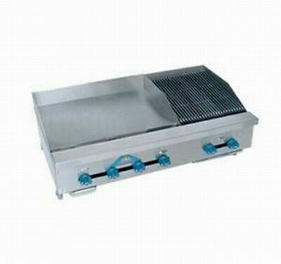 Comstock-castle Fhp48-24-2rb 48 Countertop Gas Griddle Charbroiler