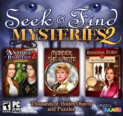 Computer Games - Seek & Find Mysteries 2 PC Games Windows 10 8 7 XP Computer hidden object seek