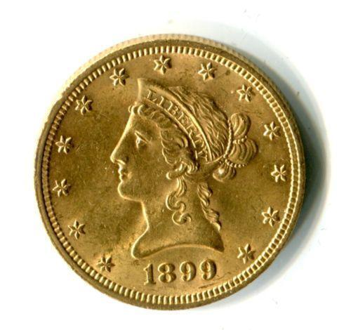 1899 10 Gold Coin Ebay