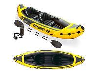 Intex Explorer K2 2 person inflatable Kayak - Yellow/Black unused £75ono