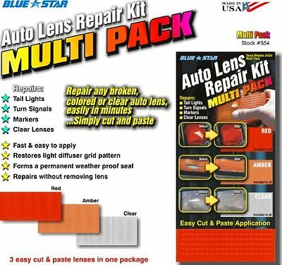 Auto Lens Repair Multi-Pack Plastic Headlight Tail Light Turn Signal Marker (Diy Lens Repair)