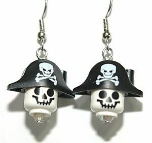 LEGO-PIRATE-SKELETON-HEAD-DANGLE-EARRINGS-L023