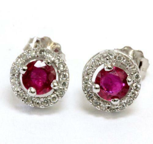 Vintage Ruby Earrings Ebay