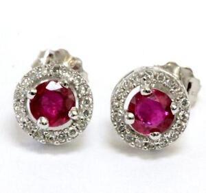 Vintage Ruby Earrings