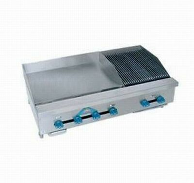 Comstock-castle Fhp48-24t-2rb 48 Countertop Gas Griddle Charbroiler
