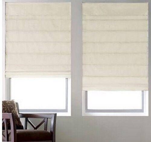 NEW Cotton Duck THERMAL Roman Shade/Blind Fabric Insulating Window Treatment NIB