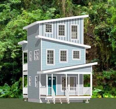 16X16 Tiny House    671 Sqft    Pdf Floor Plan    Model 22B