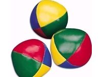 3 New Multi Coloured Balls:For Juggling,Play or Stress Relief.