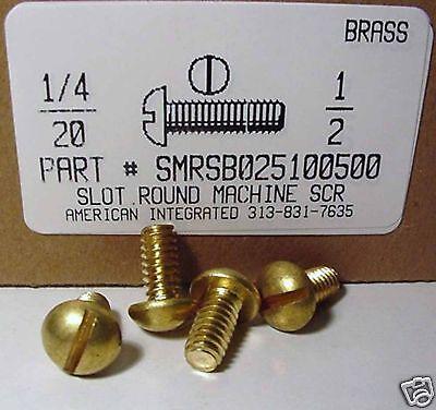 14-20x12 Round Head Slotted Machine Screws Solid Brass 10
