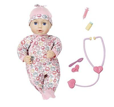 Zapf Creation Baby Annabell Milly Feels Better Nurturing Doll 43cm Playset for sale  Shipping to United States