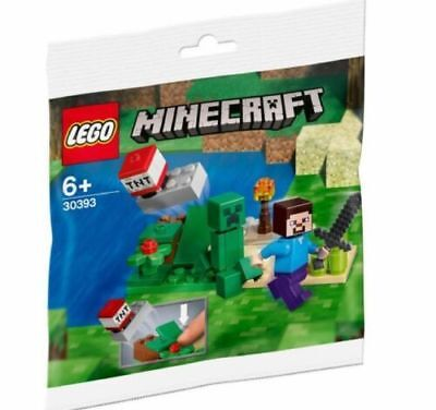 Lego Minecraft - 30393 Steve and Creeper Polybag NEU OVP BLITZVERSAND!