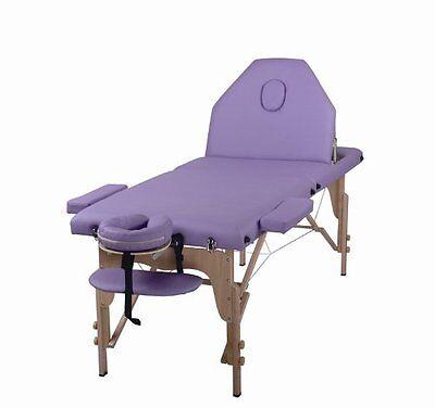 The Best Massage Table 3 Fold Purple Reiki Portable Massage