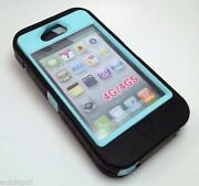iPhone 4 Otterbox Defender Black Teal