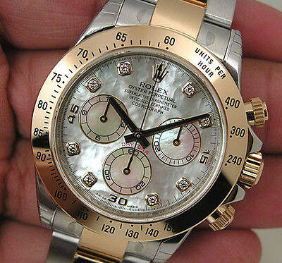 Rolex Daytona 116503 Two Tone Steel & Yellow Gold White Mother Of Pearl Diamond