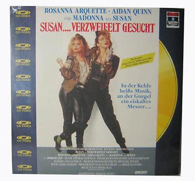 """Laserdisc """" SUSAN... Verzweifelt gesucht """" NEU"""