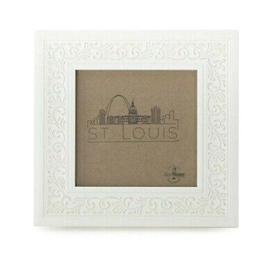EcoHome 4x4 Ornate Picture Frame White - Tabletop/Wall Displ
