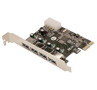 4 Port USB 3.0 2.0 PCI Express PCIeComputer Card PC Karte Controller Hub Adapter